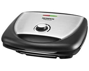 Grill Mondial Super Premium Inox G-09 1700 watts Antiaderente 220V~60Hz - Negro|Plateado