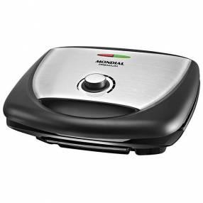 Grill Mondial Super Premium Inox G-09 1700 watts Antiaderente 127V~60Hz - Negro|Plateado