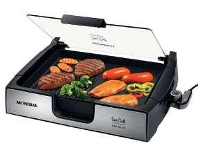 Grill Mondial G10 Due Grill Inox Premium de 1.500 watts 110V - Negro