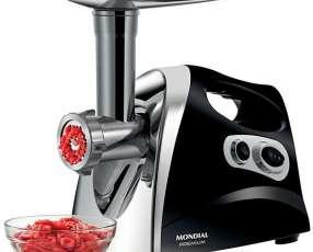 Moledor de Carne Mondial Premium MC-03 500 watts 220V~60Hz - Negro|Plateado