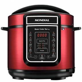 Olla de Presión Electrica Mondial Master Cooker PE-39 de 5 litros 127V - Roja|Negra
