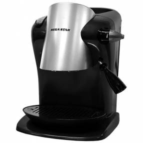 Cafetera MegaStar CAF-505E para 1.4L con Presión de 15 Bar 110V - Negra|Plateado