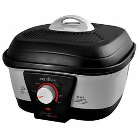 Olla Electrica Britania Multi Cooker 1.500 watts 10 en 1 127V~60Hz - Negra|Gris