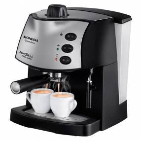 Cafetera Mondial C08 EspreSSo Coffee Cream 800 Watts 220V | 60Hz - Negro|Plateado
