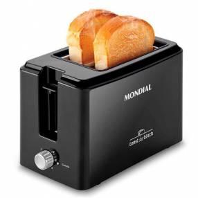Tostadora Mondial Toast Due Blask T05 800W|6 Tenperaturas|220V~60Hz - Negra