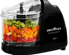 Mini Procesador de Alimentos Britania 2P 160 watts 360 ml 220V~60Hz - Negro