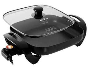 Olla Eléctrica Britania Super Chef 8 en 1 230º y 1.200 watts 127V~60Hz- Negra
