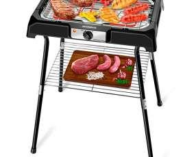 Churrasquera Eléctrica Mondial Grand Steak & Grill CH-06 con estante 127V - Negra