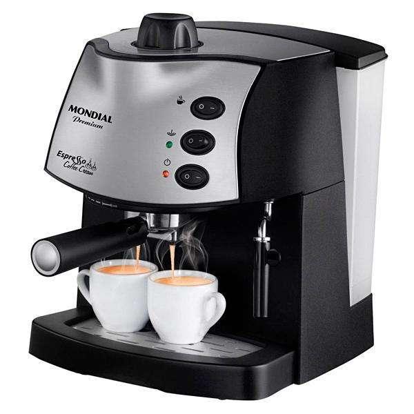 Cafetera Mondial Espresso Coffee Cream C-08 Premium 800 watts 127V~60Hz - Negro Plateado - 0