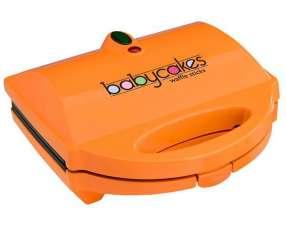 Máquina de Waffles Babecakes WM-514TC 760 watts 120V ~ 60Hz -Naranja