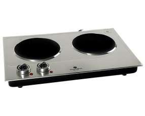 Placa de Cocina Electrobras Premium Cook Inox II EBVC02 2 de 1.200 watts 220V - Plateado|Negro