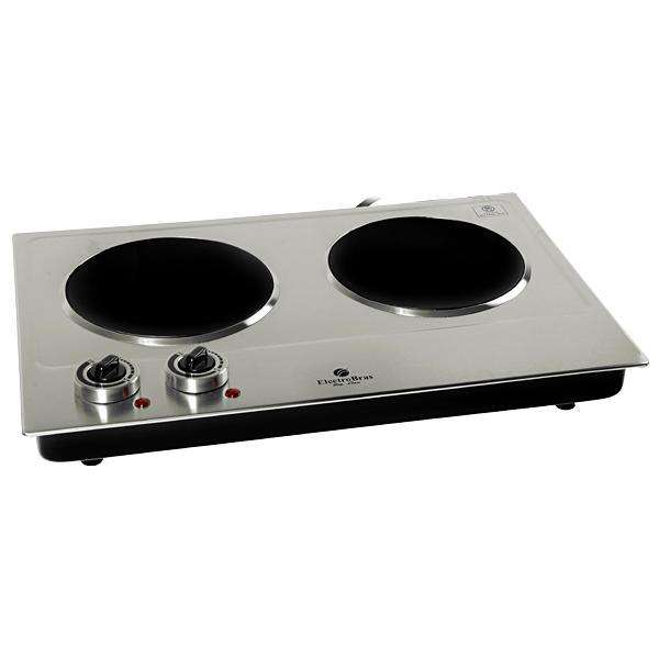 Placa de Cocina Electrobras Premium Cook Inox II EBVC02 2 de 1.200 watts 220V - Plateado|Negro - 0