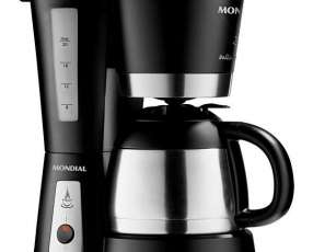 Cafetera Mondial Bella Arome Thermo C-17 con Sistema Antigotejamento 220V - Negra|Plateado