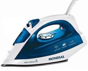 Plancha Mondial NF-34 1.200 watts Base de Cerâmica + Sprae 220V~60Hz - Blanco Azul