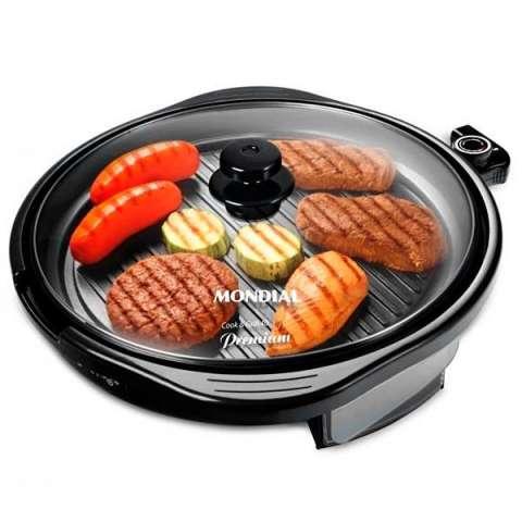 Grill Mondial Cook & Grill 40 PREMIUN G-03 2 en 1 1.270 watts 110V - Negro