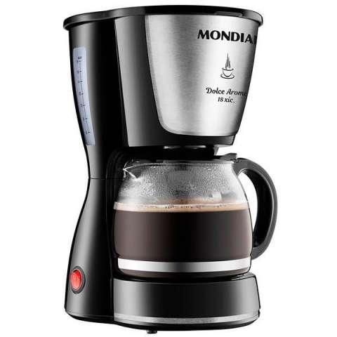 Cafetera Mondial Dolce Arome Inox C-30-18X con Sistema Corta Pingos 127V - Negra|Plateado