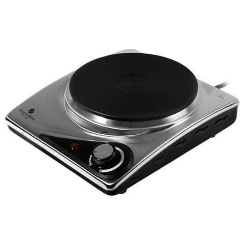 Placa de Cocina Eléctrico ElectroBras Classic Cook Inox EBPE-01 1.500W 1 Boca 220V - Plateado|Negro