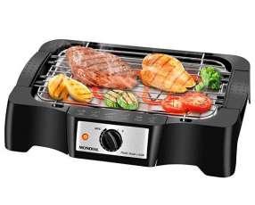 Churrasqueira Electrica Mondial Pratic Steak & Grill CH-07 Altura Ajustável 220V - Negra