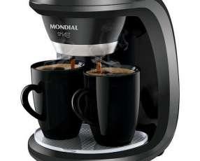Cafetera Eléctrica Mondial Smart C-18 550W con 2 Tazas de Porcelana 127V~60Hz - Negra