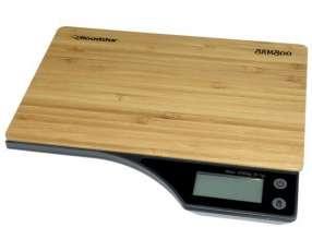 Balanza Digital para Cocina Roadstar Bamboo para hasta 5 kg - Marron|Negra