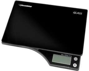 Balanza Digital para Cocina Roadstar Glass para hasta 5 kg - Negra