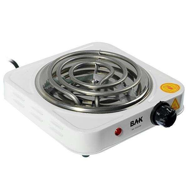 Placa de Cocina Eléctrico BAK BK-1000W 1000W con Boca de 140mm 220V - Blanco - 0