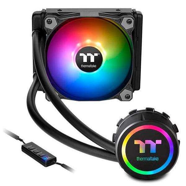 Cooler para CPU Thermaltake Water 3.0 120 ARGB Senc 120 mm con LED - Negro - 0