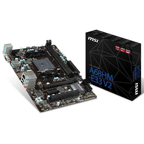 Placa Madre MSI A68HM-E33 V2 DDR3 2133 FM2+ - hasta 2 DDR3 - 0
