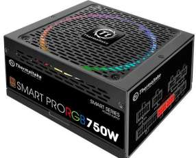 Fuente de Alimentación para PC Thermaltake Smart Pro RGB 80 Plus Bronze 750 watts - Negra