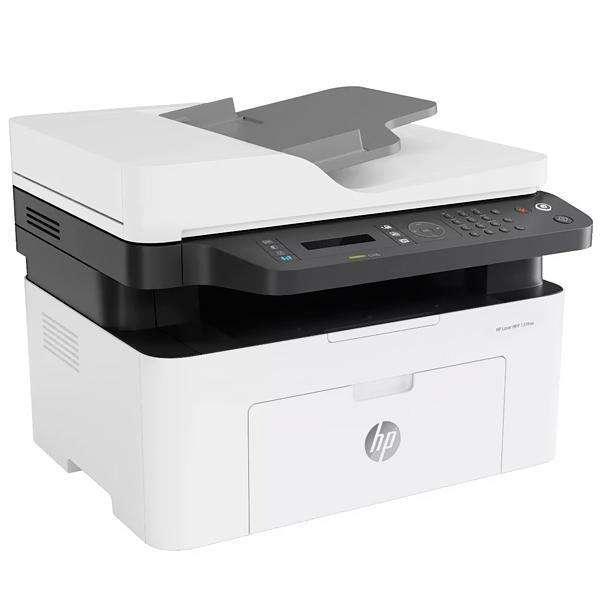 Impresora Multifuncional HP Laser MFP 137fnw (4ZB84A) Wi-Fi 127V - Blanca Gris - 0
