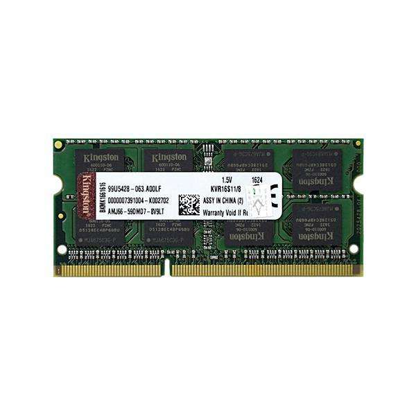 Memória RAM 8GB DDR3 para Computadora Portátil Kingston KVR16S11|8 1.600MHz - Verde - 0