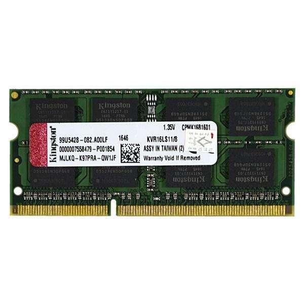 Memória RAM para Computadora Portátil Kingston KVR16LS11|8 de 8GB DDR3 - Verde - 0