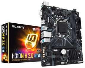 Placa Madre Gigabete H310M H 2.0 Socket LGA 1151 - hasta 2 DDR4