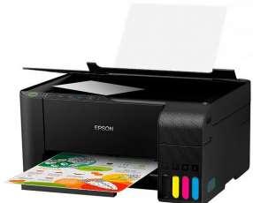 Impresora Epson EcoTank L3150 3 en 1 Wi-Fi Bivolt - Negra