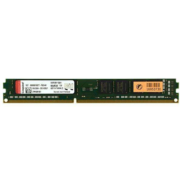 Memoria RAM de 4GB para PC Kingston KVR16N11S8|4 DDR3 - Verde - 0