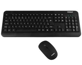 Teclado Wireless Satellite AK-725G Português + Mouse 1.600 DPI - Negro