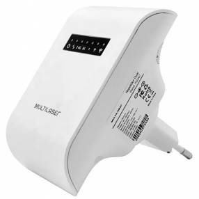 Repetidor de Señal Wi-Fi MULTILASER RE054 AC750 300Mbps en 2.4GHz + 450Mbps en 5GHz Blanco