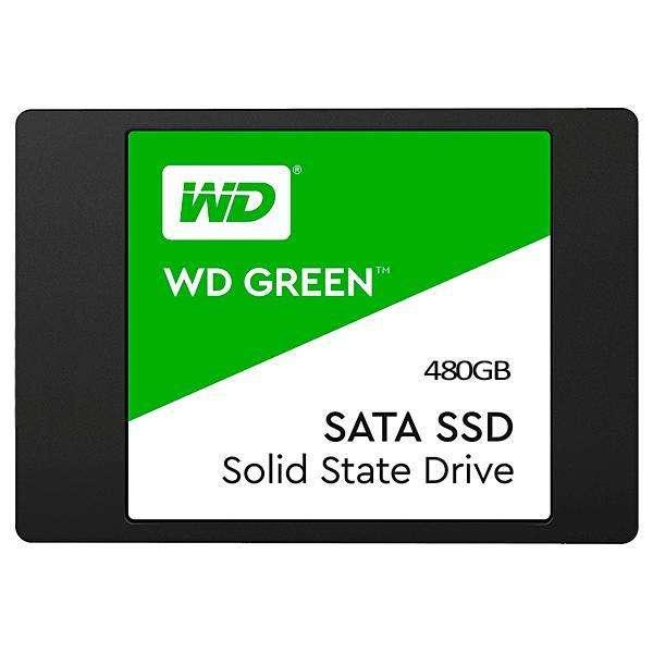 SSD de 480GB WD Green WDS480G2G0A de 545MB|s de Lectura - Negro - 0