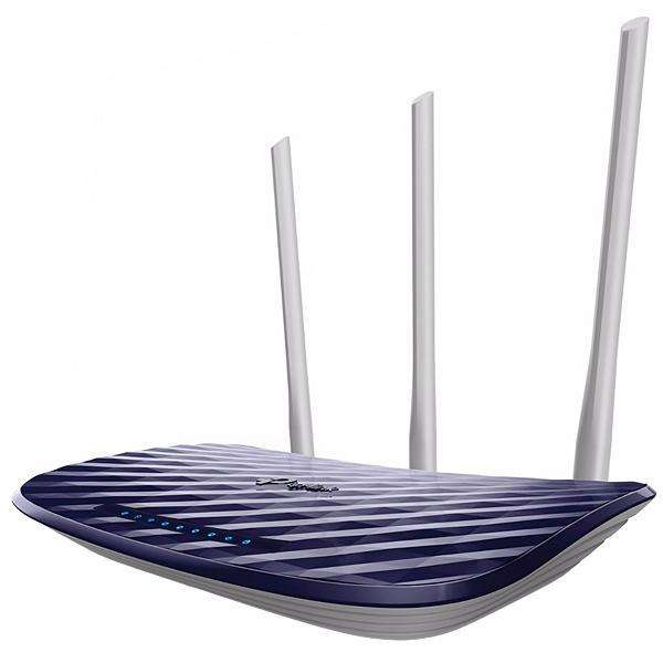 Router tp-link Archer C20 AC750 300 + 433 Mbps 3 Antenas - Azul|Blanco - 0