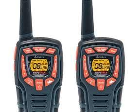 Walkie-Talkie Cobra ACXT545 de 45 km con 22 Canais - Negro