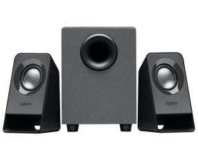 Speaker Logitech Z211 con USB|Mini Jack 3.5 mm - Negro