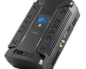 Nobreak Forza HT-750LCD 750VA 375W Protección Nivel 5|25 Minutos Backup 110V - Negro