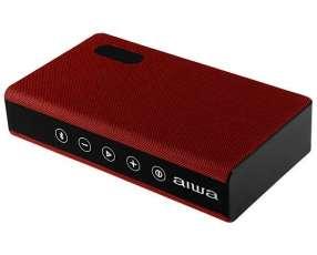 Speaker Aiwa AW-20H con Bluetooth|Auxiliar Bateria 2.400 mAh - Rojo