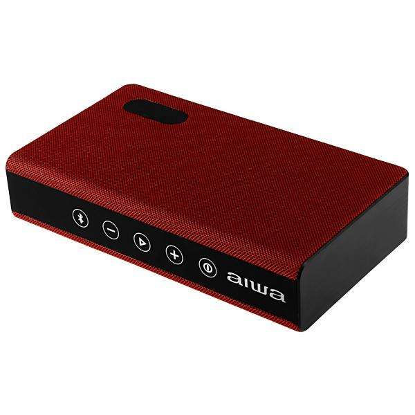 Speaker Aiwa AW-20H con Bluetooth Auxiliar Bateria 2.400 mAh - Rojo - 0