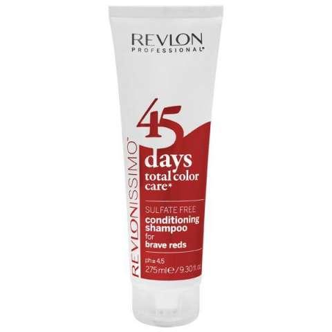 Shampoo Revlon Revlonissimo 45 Daes Brave Reds 2 en 1 275 ml