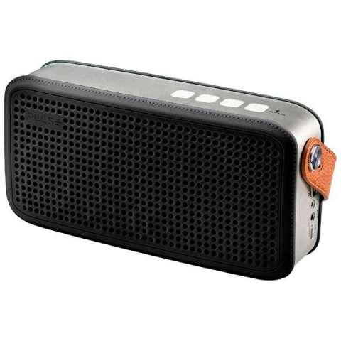 Speaker PULSE SP247 con Bluetooth USB SD Batería 2.000 mAh - Negro Plateado