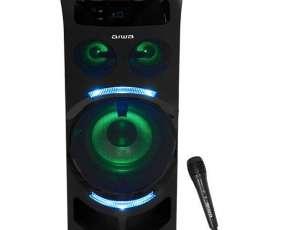 Caja Karaoke Aiwa AWPOK7 300 watts Bluetooth|USB|Bivolt - Negra
