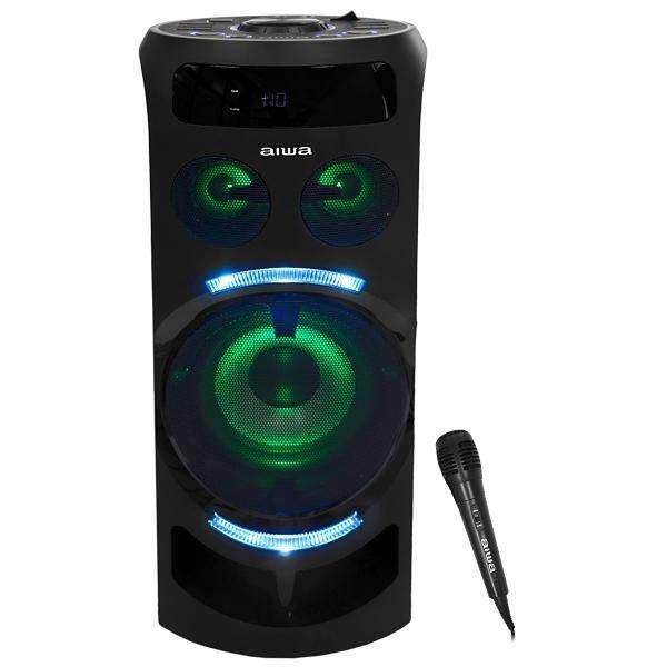 Caja Karaoke Aiwa AWPOK7 300 watts Bluetooth|USB|Bivolt - Negra - 0