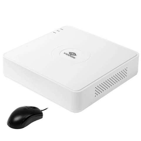 DVR VIZZION VZ-04QK1 de 4 Canais con HDMI|USB|Ethernet Bivolt - Blanco