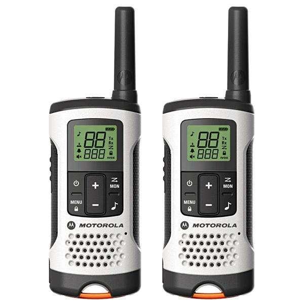 Walkie-Talkie Motorola Talkabout T260MC 40 km Bivolt - Gris Blanco - 0